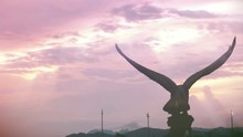 Behind View Of Eagle Statue Si...