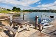 Sunny day at Mylor Cornwall England UK
