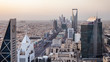 Top view of the city of Riyadh, Saudi Arabia