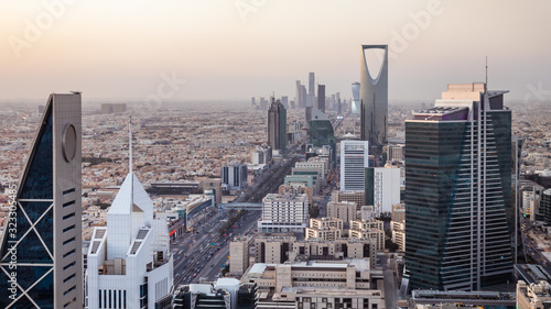 Top view of the city of Riyadh, Saudi Arabia Fototapete