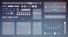 Flat Mobile Web UI Kit. Univer...