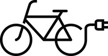 Electric Bicycle Icon, Vector ...