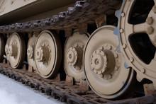 Close Up Of Tank Tracks