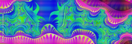 Esoteric- art painting  arcane. 3D illustration- abstract ornate Canvas Print