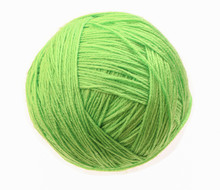 Clew Of Woolen Thread Isolated...
