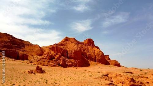 Région montagneuse d'un désert aride Canvas Print