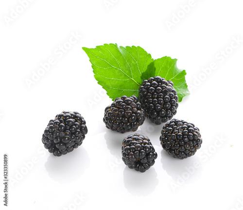 Valokuva Blackberries isolated on white background
