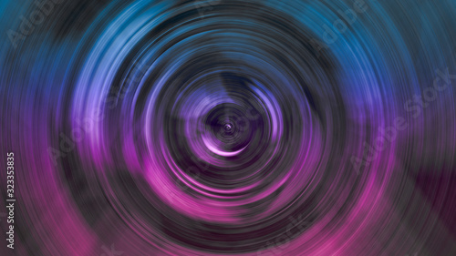 camera inspired circular abstract fractal background in blue and pink