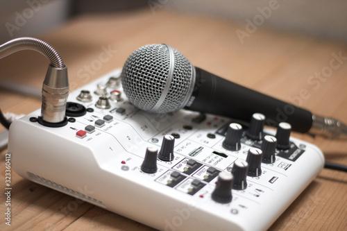 Microfono de estudio Wallpaper Mural