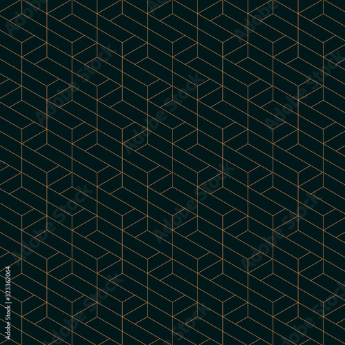 abstract-trapezoid-shape-line-geometric-pattern-seamless-vector-gold-line-color-with-dark-blue-background