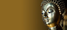 Golden Buddha Statue With Glit...