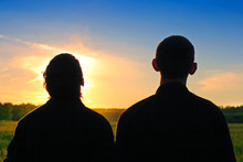 Two Persons Silhouette