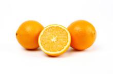 Fresh Egypt Orange Isolated On...