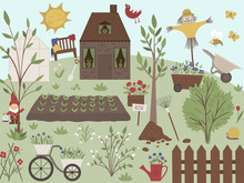 Vector Illustration Of Garden ...