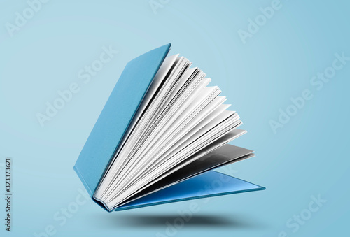 Fotografering Large hardcover book with open pages