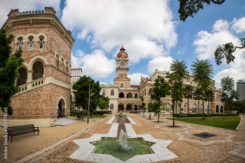 Various heritage structures around the Sultan Abdul Samad Building gardens, Kual Wallpaper Mural