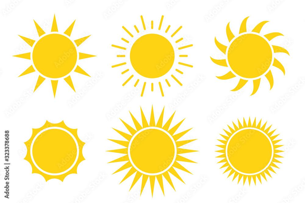 Fototapeta sun icon vector illustration isolated white background