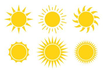 sun icon vector illustration isolated white background