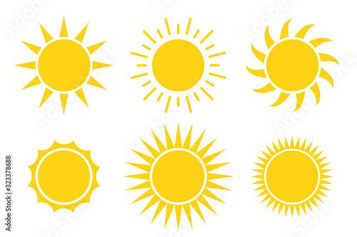 Obraz sun icon vector illustration isolated white background - fototapety do salonu