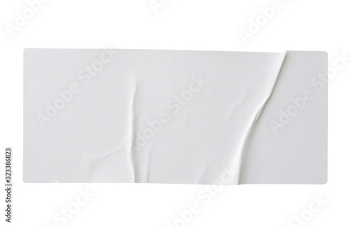 Obraz Paper sticker label isolated on white background - fototapety do salonu