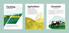 Set Of Posters With Agricultur...