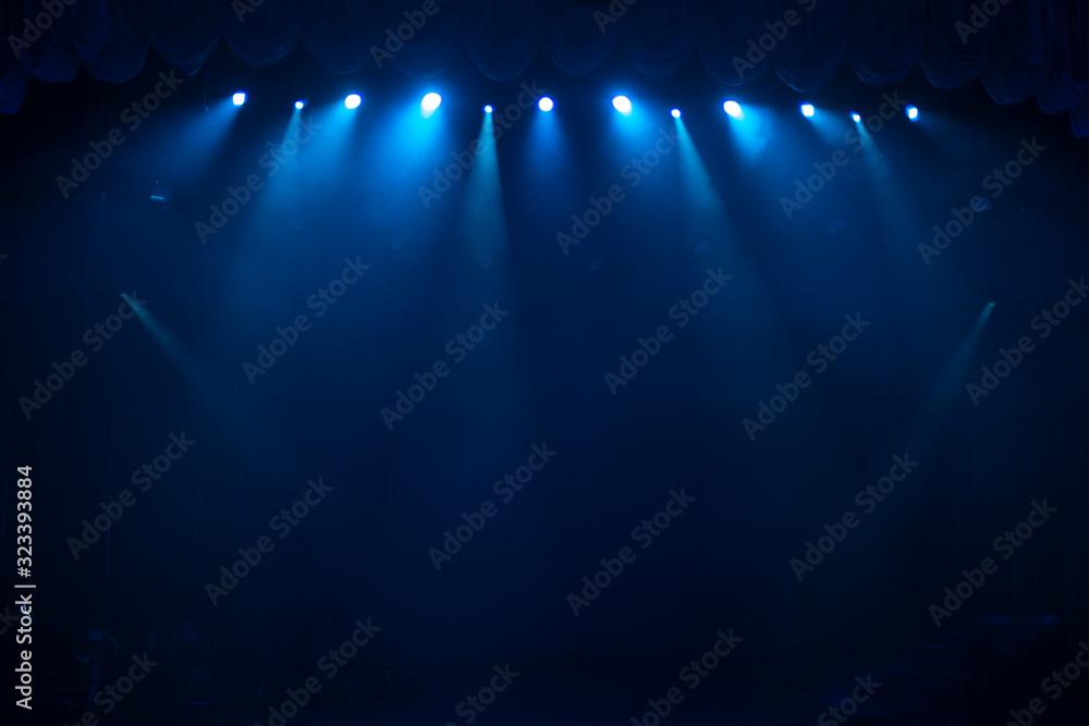 Fototapeta rays of light illuminate the scene
