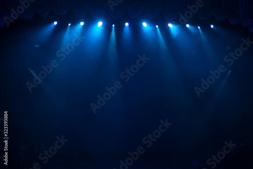 Obraz rays of light illuminate the scene - fototapety do salonu