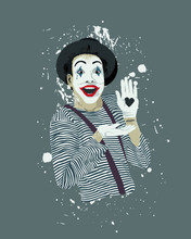 Classic Look French Mime Showi...