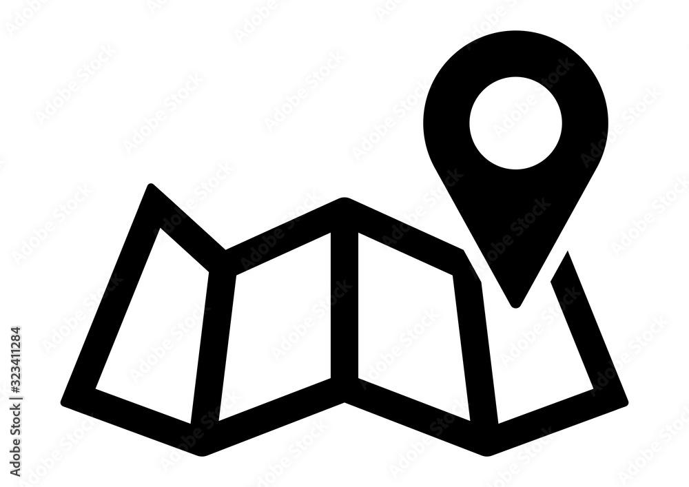 Fototapeta gz728 GrafikZeichnung - german - Händlersuche. - Standort, Karte, Lokalisierung, Symbol. - english - dealer locator. - plan, navigation, location, map, localization, city map, pin icon. - DIN A4 g9065