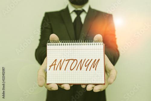 Word writing text Antonym Wallpaper Mural