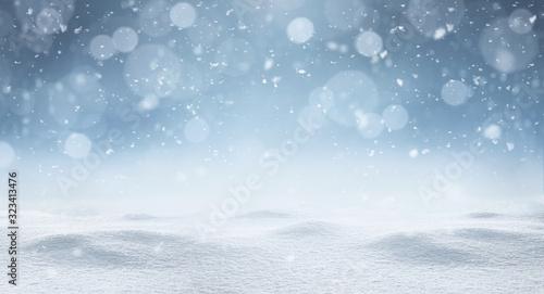 Fototapeta Empty panoramic winter background with copy space obraz na płótnie