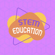 canvas print picture - Conceptual hand writing showing Stem Education. Concept meaning develop to prepare primary and secondary students for college Asymmetrical format pattern object outline multicolor design
