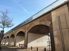 Brücke In Der Bahnstr. In Mülheim An Der Ruhr