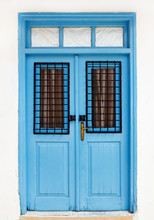 Beautiful Old Blue Door. Fragm...