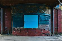 A Shot Of An Abandoned Train T...