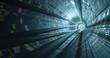 High Tech  Kabel in einem Tunnel