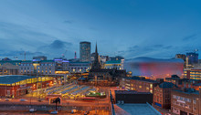 City Skyline Of Birmingham Bus...