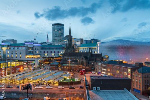 city skyline of Birmingham business district, West midlands, UK Canvas Print