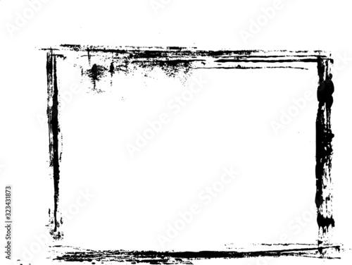 Obraz Grunge Distressed Frame Border Background - fototapety do salonu
