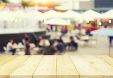 Food Exhibition Blurred