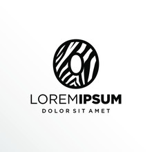 Initial Number 0 Zebra Logo Design