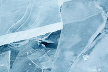 Blocks Of Ice. Large Pieces Of...