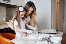 Happy Mommy Teaching Her Daugh...