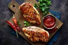 Grilled Chicken Fillet With Sp...