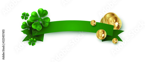 St. Patrick's Day decoration ribbon for the inscription vector