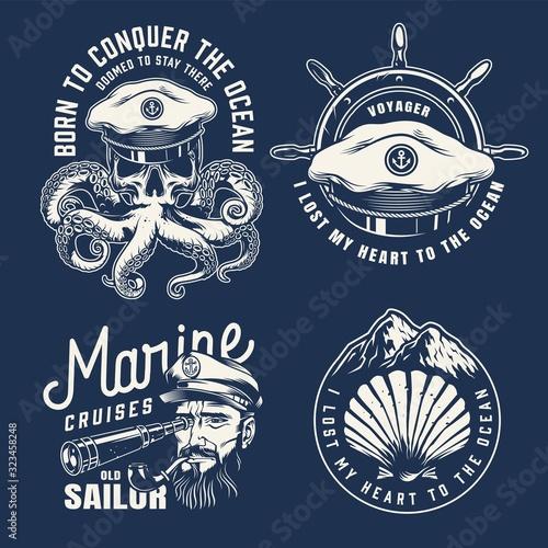 Vintage marine emblems