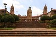 canvas print picture - Union Buildings surrounded by greenery under a cloudy sky in South Africa