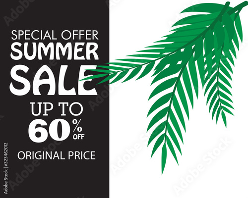 summer sale discount up to 60% off special offer original price vector template illustration © SekarMelati