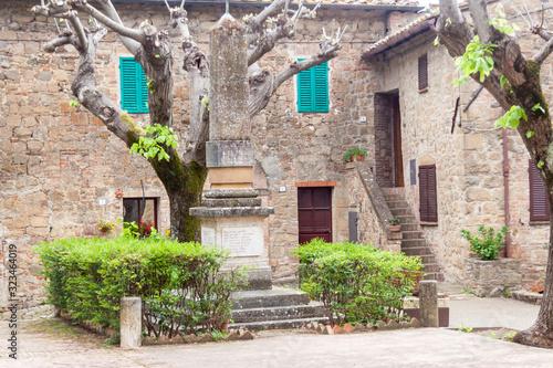 Fototapety, obrazy: Stone old Tuscany village - Monticchiello.