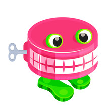 Chattery Teeth Baby Toy With Clockwork Mechanism